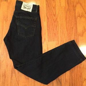 Levi 511 Men 30 x 30 100% Cotton dark wash Jeans